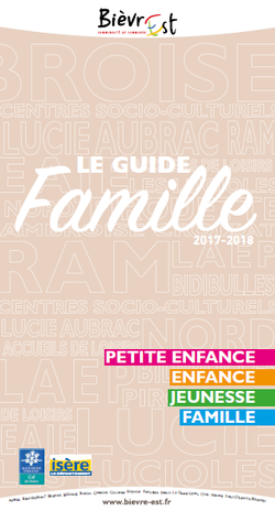 Sites > Centres socioculturels > Guide famille 2017-2018